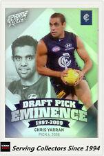 2013 Select AFL Prime Draft Pick Eminence Card DPE16 Chris Yarran (Carlton)