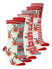 1 Pair Ladies Festive Christmas Novelty Socks Size 4-8 Uk, 37-42 Eur, 5 Options