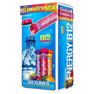 Zipfizz Healthy Energy Drink Mix- VARIETY PACK (30 Tubes) * FREE SHIPPING *
