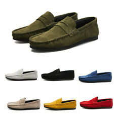 Mens Suede Loafers Leisure Colorful Moccasins Gommino Flat Driving Shoes Vogue D