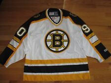 Vintage CCM BOSTON BRUINS No 90 (Adult LARGE) Jersey WHITE