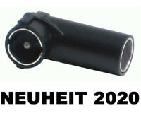 Kfz Auto Radio Antennenadapter DIN > ISO Kupplung Buchse Stecker Winkel NEU