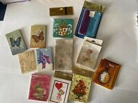 12 Different  Vintage Bridge Tally Cards Designs And Score Pads- Hallmark