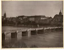 Allemagne, pont à identifier, ville à identifier  Vintage print Photomécanique