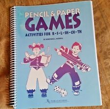 Pencil & Paper Games Activities for R-S-L-SH-CH-TH by Robynne L Merrill