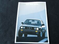 1988 BMW 325 325i 325is Brochure E30 3-Series Sales Catalog 325 i Sedan is Coupe