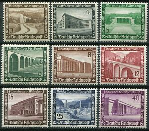 """(903)  VERY GOOD SET 1936 GERMANY """"RELIEF FUND"""" SG623 - 631 MOUNTED MINT"""