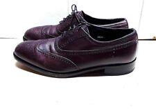 Florsheim Red Leather Oxford Wingtip Brogues Casual Dress Men Shoe Size 11.5(3E)