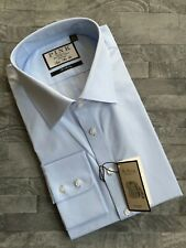 THOMAS PINK PALE BLUE THE STIRLING SUPER SLIM FIT SHIRT BNWT SIZE 18.5""