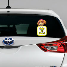 Paw Patrol Skye Baby on Board Funny Novelty Car Bumper Window Sticker Decal