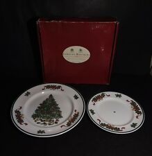 Johnson Brothers Victorian Christmas Two Tier Cake Stand Plates Only