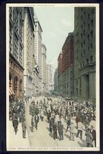 Old Postcard UNITED STATES BANKERS Broad Street and the Curb Brokers, NEW YORK