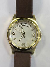 Marc by Marc Jacobs Baby Dave Ivory Dial Brown Leather Unisex Watch MBM1261 L@@K