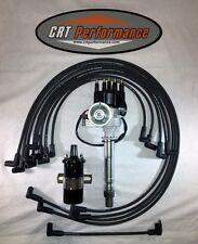 SB Chevy SBC Small Cap H.E.I HEI Distributor Kit W/ Plug Wires & 45K COIL