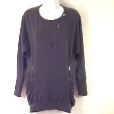 BCBG Max Azria Women's Long Sleeve Pullover Sweatshirt Sweater Gray Size XS