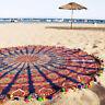 Pavone Mandala Rotondo Arazzo Copriletto Hippie Gitano Spiaggia Coperta Yoga Mat