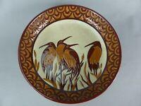 GRAND PLAT AU DECOR ECHASSIERS CERAMIQUE EMAUX KERALOUVE STYLE ART DECO 515-1