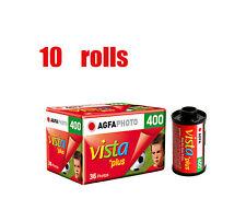 10 Rolls Agfa 400 Vista Plus 400 35mm 135-36 Color Negative Film Fresh 10/2019