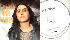 MY INDIGO Crash And Burn 2018 UK 1-trk promo test CD Within Temptation