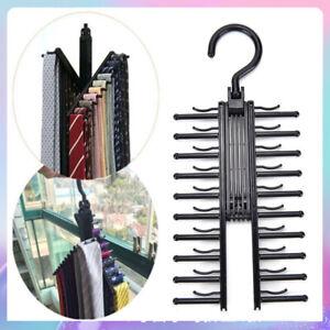 20 Rotating Tie Rack Hanger Belt Organizer Holder Twirling Scarf Belt Tie Hook