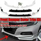 For 2018-2020 Honda Accord 10th Gen Painted White Pearl Front Bumper Lip Spoiler