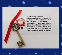~ MAGIC SANTA FATHER CHRISTMAS XMAS EVE BOX DOOR KEY NO CHIMNEY TRADITION KIDS ~