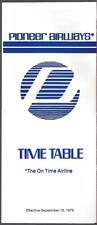 Pioneer Airways system timetable 9/15/79 [7112]