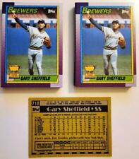 1990 Topps GARY SHEFFIELD All Star Rookie Card #718 - 50 Card Lot - MINT