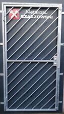 Gittertür Feuerverzinkt Einbruchschutz auf Maß - Modell Diagonal 1
