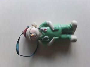 Nurse Doctor Snowman Christmas ornament