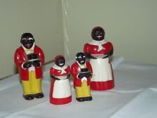 2 Vintage Aunt Jemima & Uncle Moses Salt & Pepper Shakers F&F mold and die works