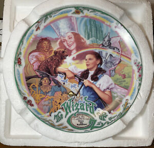 """1993 Wizard of Oz Over the Rainbow Musical Knowles Collector's Plate 7.5"""""""