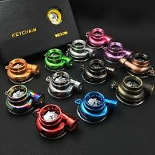 LED TURBO Key Chain Ring Keyring  Spinning Fan Keychain Gifts(Box not included)
