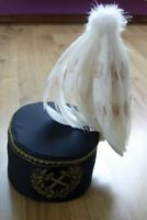 RARE POLISH POLAND SILESIAN MINING OFFICER'S PARADE white feathers SHAKO HAT