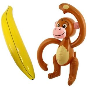 Inflatable Monkey Inflatable Banana Animal Chimp Ape Jungle Tropical Party Prop