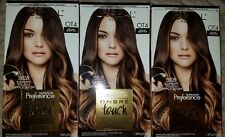 Loreal Feria Ombre, Preference Ombre Hair Color, Touch, OT4, Dark Brown, 3 boxes
