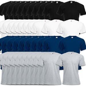 5er/10er Fruit of the Loom T-Shirt Sets Coton S M L XL XXL 3XL 4XL Haut