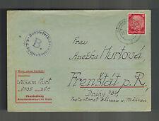 1940 Germany Oranienburg Concentration Camp Cover KL to Frenstat Wilhelm Hurt