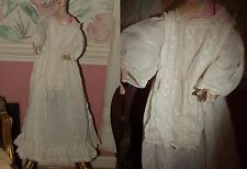 Antique Vintage Infant's Christening Gown Embroidered Valenciennes Lace Child's