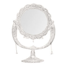 Mirror Tabletop Makeup Cosmetic Antique Style Silver Mirror Beauty Dresser Gift