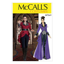 Mccall's 7641 Sewing Pattern to Make Cosplay Coat With Peplum in Two Lengths 6 8 10 12 14