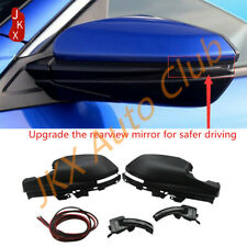 RearView Mirror Covers+Turn Signal Light+Cable Kit For Honda Civic 2016-2020