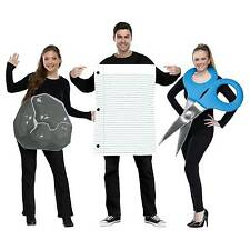 Rock Paper Scissors Adult Group 3 Costumes in One Bag