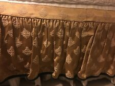 AUSTIN HORN king size bed skirt immaculate  ~ gold with black