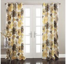 "Lush Decor Leah Room Darkening Curtain Panel Pair 84""x52"""