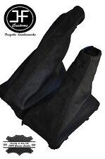 BLACK SUEDE BLACK LEATHER FOR FOR FIAT PUNTO MK1 1993-1999 GEAR HANDBRAKE