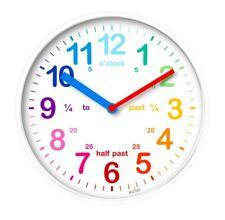 Acctim Wickford Kids Children Time Teaching Wall Clock - 20cm - White