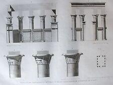 ILE DE PHILAE. (pl. 26, A. vol. I). Plan coupe elevation..   DESCRIPTION EGYPTE