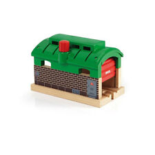 Brio Train 33574 Locomotive Shed with Roll-up Door for Wooden Railway NEW! #