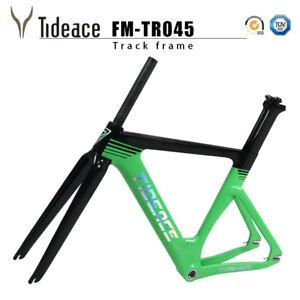 Tideace Carbon Fiber Fixed Gear Bicycle Frames 700C Carbon Track Frameset BSA